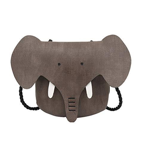 TENDYCOCO Mochila para Niños de Animal de Elefante Lindo para Niños Bolsa de Bandolera de Novedad (Marrón)