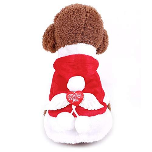 Hunde Kostüm Weihnachts Baumwoll-PET-Kleidung Winter Hoodie Mantel Kleidung Für Hund PET Kleidung Chihuahua Yorkshire Poodle,M