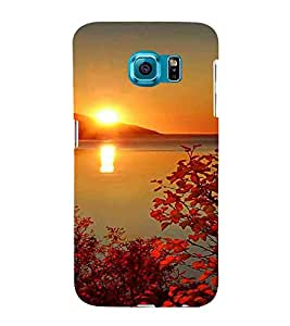 For Samsung Galaxy S6 G920I :: Samsung Galaxy G9200 G9208 G9208/SS G9209 G920A G920F G920FD G920S G920T beautiful sunset ( beautiful sunset, river, mountain, sun, sunset, tree, leaf, flower ) Printed Designer Back Case Cover By FashionCops