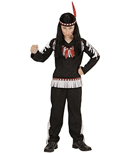 Kostüm Ideen Indianer (Widmann 06715 - Kinderkostüm Indianer, Kasack, Hose und Stirnband, Größe)