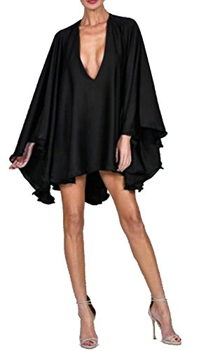 Missord - Robe - Cocktail - Manches Longues - Femme Noir