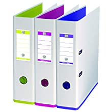 Oxford myColour Folder A4 8 cm Wide Two Colours White Assorted Pack of 3