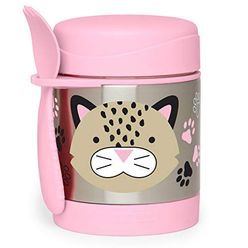 Skip Hop Baby Zoo Little Kid and Toddler Insulated Food Jar and Spork Set, Multi, Leopard