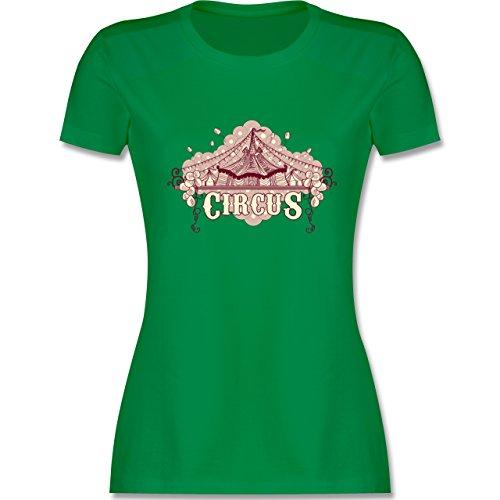 Statement Shirts - Circus - tailliertes Premium T-Shirt mit Rundhalsausschnitt für Damen Grün