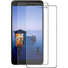 [2-Pack] Xiaomi Redmi Note 4 Cristal Templado Protector de Pantalla, Nazzamo Xiaomi Redmi Note 4 Templado Vidrio Protector de Pantalla (5.5) Pulgadas de Pantalla[Ultra-trasparente] [Sin Burbujas] [Resistente a Arañazos]