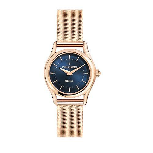 TRUSSARDI Reloj Analógico para Mujer de Cuarzo con Correa en Acero Inoxidable R2453127502