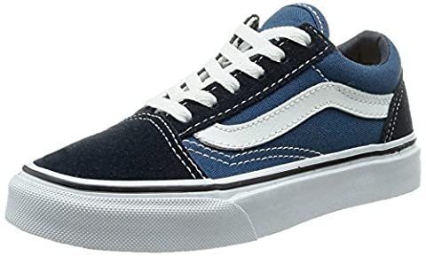 Vans Old Skool, Sneakers Basses mixte enfant, Bleu (Navy/True White), 27.5 EU (UK child 10.5 Enfant