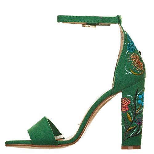 Sandali con tacco VERDE Verde