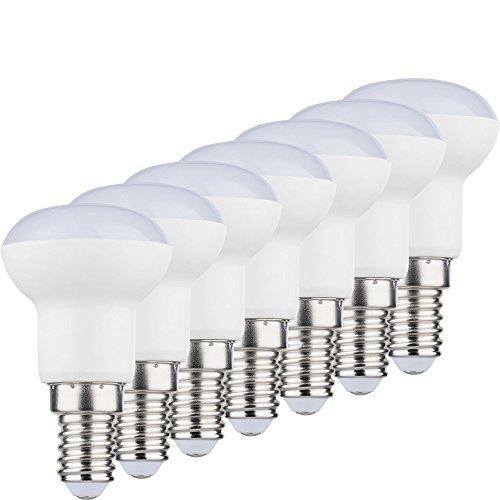 MÜLLER-LICHT 400068_Set A+, 7er-Set LED Reflektor ersetzt 25 W, Plastik, 3 W, E14, weiß, 3.9 x 3.9 x 6.7 cm (3w Led-licht)