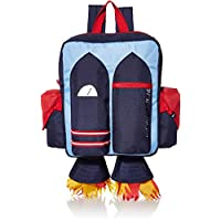 Joules Zippy Novelty Character Backpack - Blue Rocket Pack