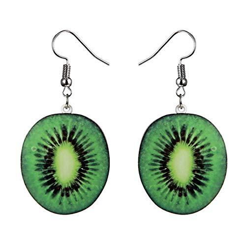 TONVER Obst-Ohrringe, 1 Paar Acryl, kreatives Obst-Ohrstecker, Accessoires, Schmuck für Frauen Mädchen Kiwi