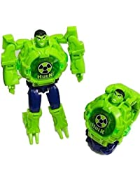 Gubbarey Action Figure Series Digital Toy Wrist Watch Robot Conversion for Kids Gift Hulk
