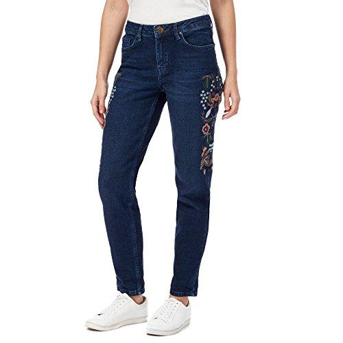 Debenhams Damen Jeanshose blau blau Gr. 40, blau (Floral Low-rise-jeans)