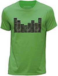 STUFF4 Men's Round Neck T-Shirt/Equalizer/Speaker Monitor/CS