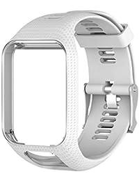 ASHATA Pulsera de Repuesto para Smartwatch, Actividad Inteligente, Correa de Reloj de Repuesto de Pulsera de Silicona para Reloj Deportivo…