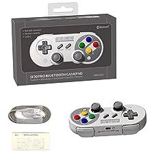 Controller für Nintendo Switch PC, 8Bitdo SF30 PRO Wireless Gamepad Controller für Steam, Raspberry Pi, Android, MacOS, Windows