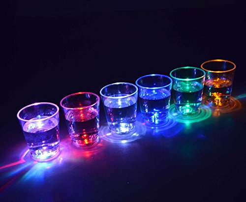 LED beleuchtet Shot Party Brille durchsichtig (Led Shot Glas)