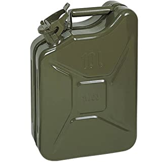 Opticare 10 Litre Green Metal Jerry Can (UN Approved, GS/TUV Certification) …