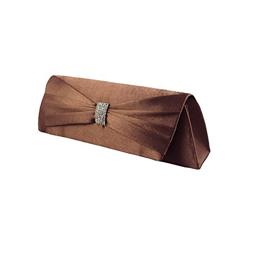 XPGG Damen Party Clutch Hardcase Abendtasche Synthetik 004 braun