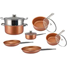 Keinode - Juego de 7 sartenes antiadherentes de acero inoxidable para cocinas de inducción, cocinas