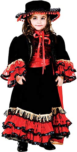 Di Ballerina Flamenco Kostüm - Carnevale Venizano CAV8953-3 - Kinderkostüm Ballerina DI Flamenco Baby - Alter: 1-6 Jahre - Größe: 3