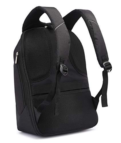 Fur Jaden 20L Black Anti Theft Bag 15.6 Inch Laptop Backpack with USB Charging Port Image 4