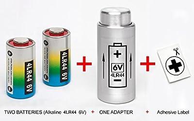 ADAPTADOR + 2 PILAS para YASHICA ELECTRO 35 G, GS, GSN.., MG-1, AX ( PX32 to 4LR44 )