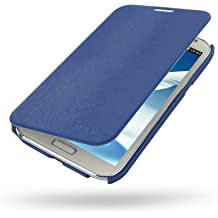 Samsung Galaxy Note II LTE Casual Folio Cover Case - GT-N7100 GT-N7105 (Navy Blue) by Pdair