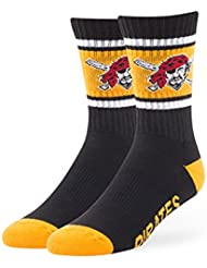 "Pittsburgh Pirates MLB 47 Brand ""Duster"" Colorblocked Men's Crew Length Socks"