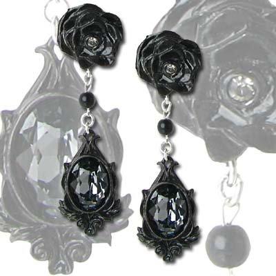 Alchemy Gothic Coppia di orecchini pendenti Dark Desires