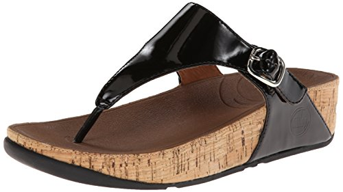 Fitflop Skinny Tm Leather, Sandali donna bianco Size: EU 36 (UK 3) Schwarz