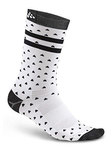 Craft Herren Pattern Socken weiß/schwarz, Size 40-42