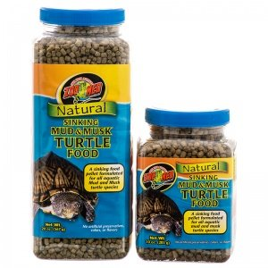 Zoo Med Natural Sinking Mud & Musk Pellet Formulated Aquatic Turtle Food 10oz