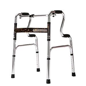 WZHWALKER Gehhilfe Für Ältere Menschen, Gehhilfe Aus Aluminiumlegierung, Vierwinkel-Rehabilitationsgerät