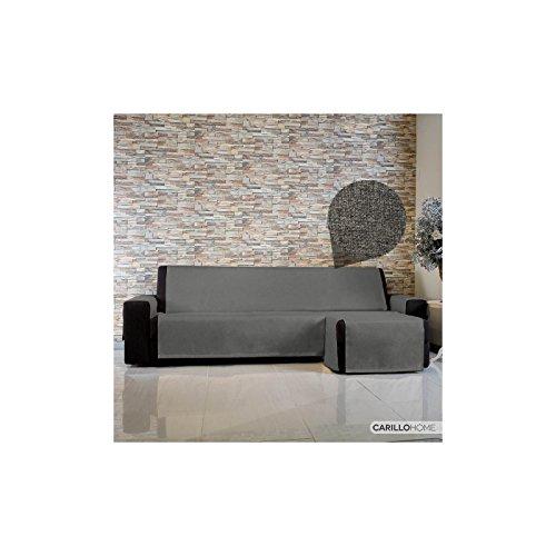 Copridivano live it con penisola - 3 posti chaise longue sx, grigio