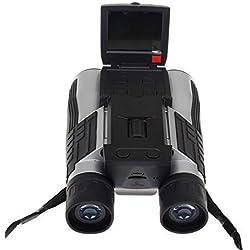 GZXCPC Enregistreur vidéo à mémoire numérique 12MP HD 1080P Jumelles Enregistreur vidéo 96 m / 1000 m Affichage à distance pour regarder, chasser et espionner