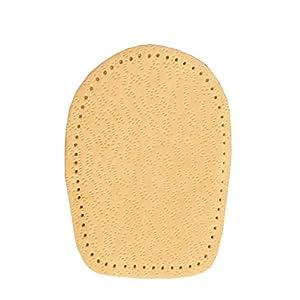 FabaCare Corbby Heel Cork Premium Schuheinlagen Leder orthopädisch Ferse, Fersenkissen aus Kork, Fersenkeil, Einlage für bequemes Gehen und Laufen, 1 Paar, 0,5-2 cm
