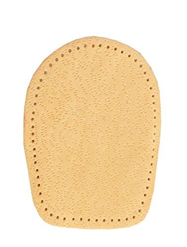 FabaCare Corbby Heel Cork Premium Schuheinlagen Leder orthopädisch Ferse, Fersenkissen aus Kork, Fersenkeil, Einlage für bequemes Gehen und Laufen, 1 Paar, 0,5-2 cm -