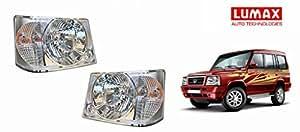 Lumax Car Crystal Headlight Assembly SET OF 2- Tata Sumo Victa