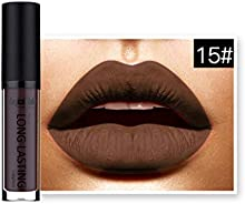 LHWY Impermeable LíQuido Mate Lip Gloss Labial De Larga Duración 15#