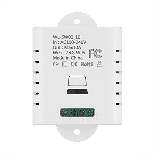 ONEVER Smart WiFi Switch Module WiFi Smart Wireless 10A FAI DA TE Nessun hub Richiesto Timer Smart Home Controllo Vocale a Distanza per Android iOS Funziona Con Alexa, Google Home