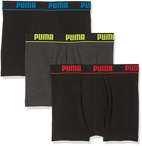 Puma Herren Badehose, 3er Pack Noir (Red/ Yellow/ Blue)