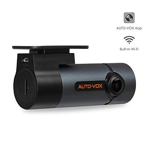 AUTO-VOX D6 Pro Auto Kamera, WiFi DashCam FHD 1080P DVR Rekorder,Unauffällige Dash Cam,300°Bewegliches Objektiv Nachtsicht, G-Sensor, WDR, Loop-Aufnahme, Parkmonitor