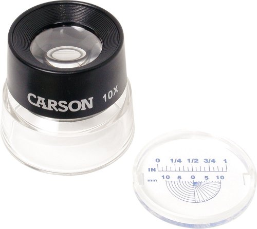 Carson LumiLoupe 10X - Lupa para estudio fotográfico, negro
