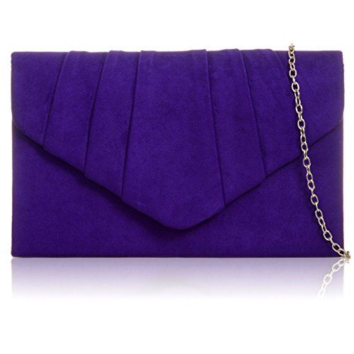 Xardi London - Clutch in finta pelle scamosciata Purple