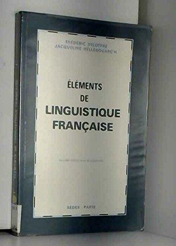 Éléments de linguistique française