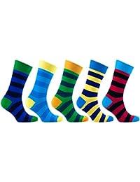 socks n socks Calcetines de algodón de colores para hombre - 5 pares