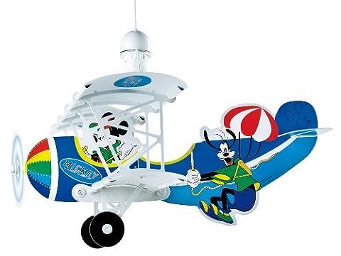 Dalber 54712 Hängeleuchte Flugzeug Mickey Mouse Kinderzimmer Lampe Leuchte (Mickey Mouse Lampe)