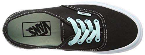 Vans Unisex-Erwachsene Authentic Outdoor Fitnessschuhe Schwarz - Noir (Pop - Black/Blue Tint)