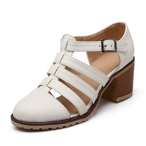 balamasa Femme Hollow Out Boucle Imitation cuir pumps-shoes Beige
